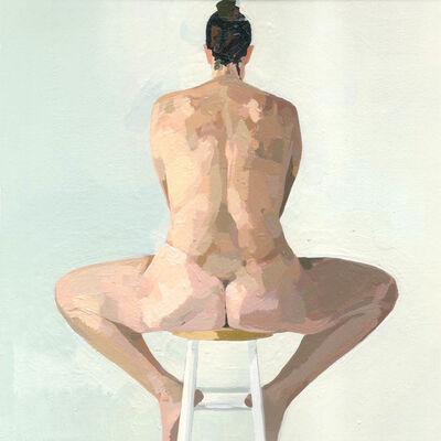 Ingrid Capozzoli Flinn, 'Nude on Stool from Back l', 2006