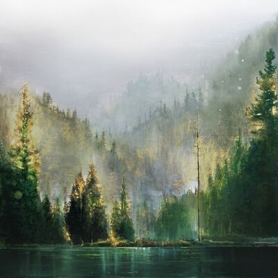 Steven Nederveen, 'Mist Over Forest Lake', 2020