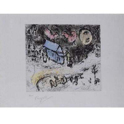 Marc Chagall, 'Les coqs sur le toit', 1968
