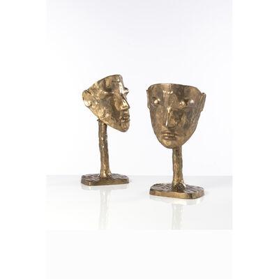 Elizabeth Garouste, 'Masque, Pair of lamps', 1983
