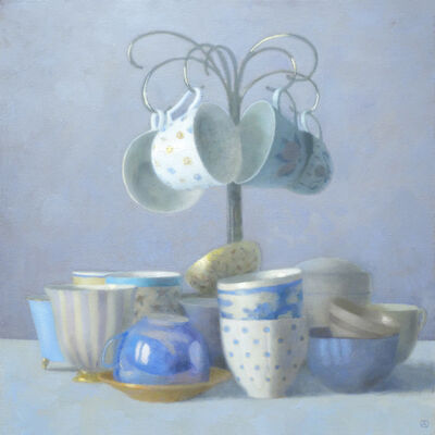 Olga Antonova, 'Four Teacups Hanging', 2014