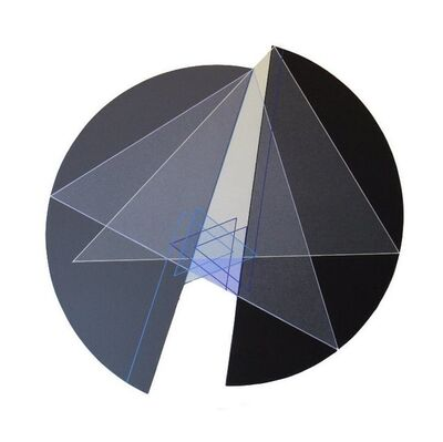 Octavio Herrera, 'Ligne descriptive bleu clair - bleu marine', 2017
