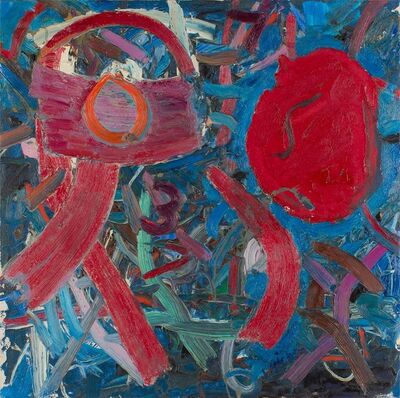 Jay Milder, 'Vibrant Abstract Rhino Horn Expressionist Painting', 1970-1979