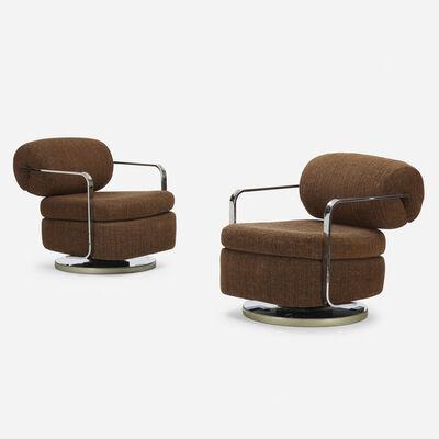Milo Baughman, 'lounge chairs, pair', c. 1965