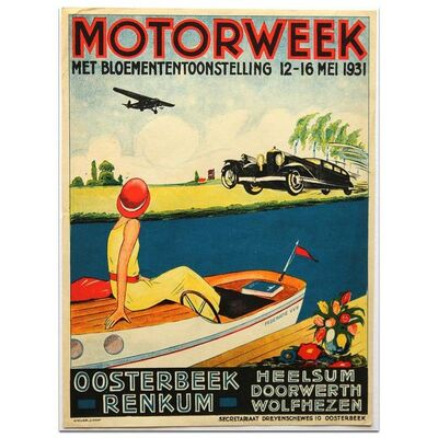 Event Poster, 'Motorweek at Oosterbeek May 1931', 1931