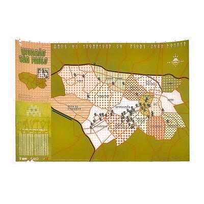 Invader, 'INVASAO SAO PAULO (Sao Paulo Map) Signed Print', 2011