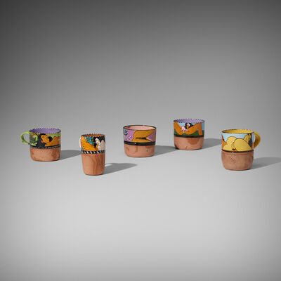 Ken Price, 'Erotic Cups, Set of Five', c. 1975