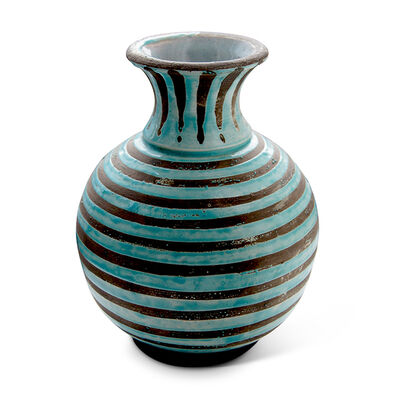 Jean Besnard, 'Vase with Pale Aqua Striation', ca. 1950
