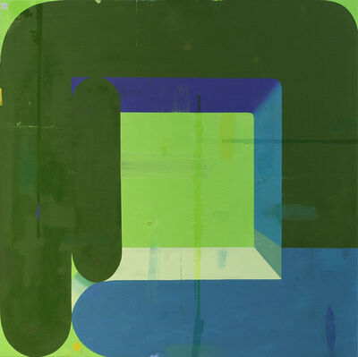 Deborah Zlotsky, 'COUPLE, DOUBLED GREEN AND BLUE', N/A