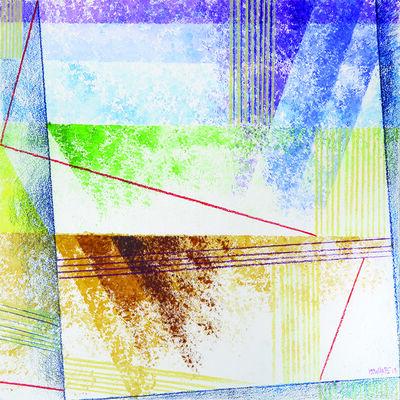 Kamal Boullata, 'Addolcendo 9', 2015