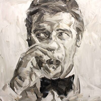 Paul Wright, 'Roger Moore (Black and White)', 2017