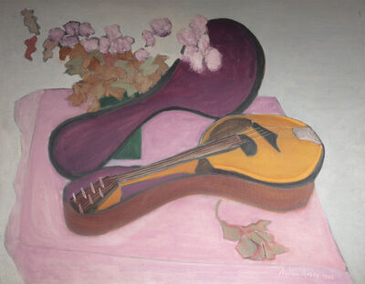 Milton Avery, 'Mandolin with Flowers', 1948