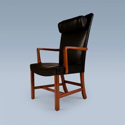 Kaare Klint, 'High back leather upholstered armchair', 1939