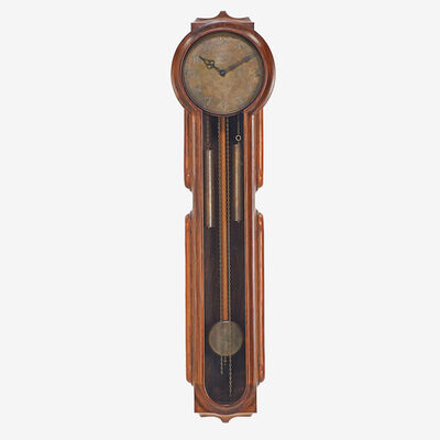 "John Cederquist, 'Early custom wall-hanging ""grandmother"" clock, Long Beach, CA', 1972"