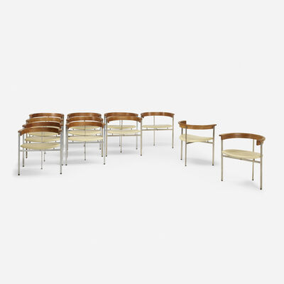 Poul Kjærholm, 'Pk 11 Chairs, Set of Twelve', 1957
