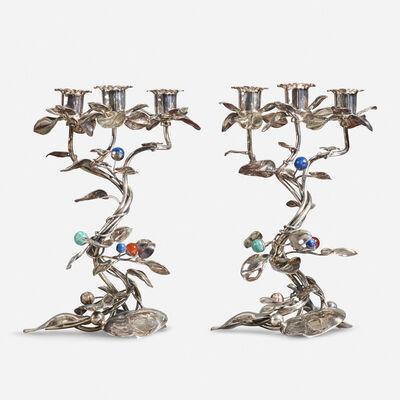 Gabriele De Vecchi, 'candelabra, pair', c. 1990