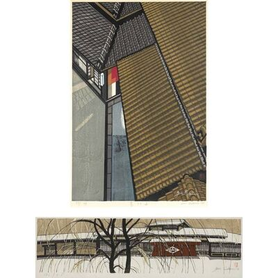 Junichiro Sekino, 'Kyoto In Twilight; Takayama In Snow'