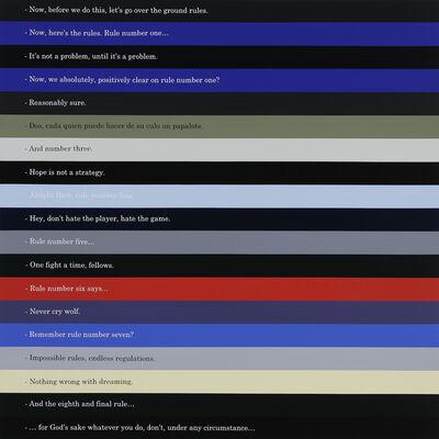 Octavio Abúndez, 'Ron Burgundy/Buck/Briggs/Buck/ Karl Glocken/Tenoch Iturbide/ Randy/August Walker/Dexter/ Detective Mike Lowrey/Jack Crow/Tyler Durden/Oscar/James Cole/Ann Krausheimer Smith/John Constantine/Carla Samson/Tyler Durden/Rusty Ryan, We Could Be So Much Better series', 2018