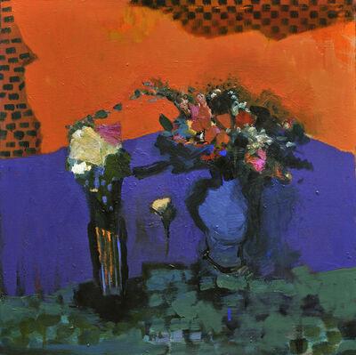 Jennifer Hornyak, 'Fleurs avec Violets et Petits Carreaux', 2011