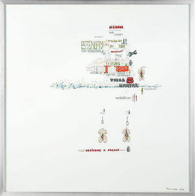 Gianfranco Baruchello, 'Uccidono a freddo', 1976