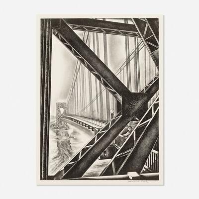 Howard Cook, 'George Washington Bridge with B', c. 1931