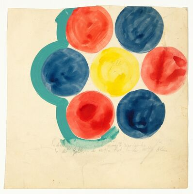 """Joannis Avramidis, 'Entwurf fur Bild, """"In diesem Sinne insgesamt 3 Varianten""""', ca. 1963"""
