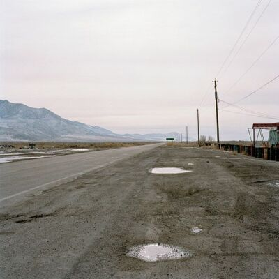 Jeff Brouws, 'Highway 196 (Road to Dugway Proving Grounds), Rowley Junction, Utah', 1995