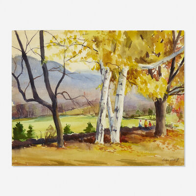 John Whorf, 'Berkshire Fall Landscape (double sided)'