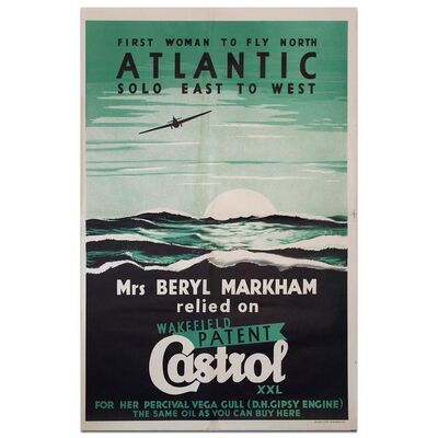 Event Poster, 'Castrol Beryl Markham Record Flight 1936', 1936