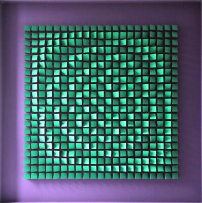 Julio Le Parc, 'Relief   Viloet et Vert', 1960-1961