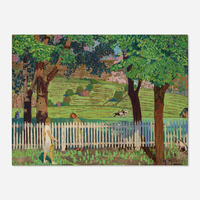 Mildred Bunting Miller, 'White Picket Fence'