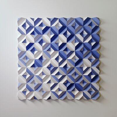 Matt Shlian, 'Ara 446 - Some Caterpillars Stay Caterpillars - Blue and White', 2020