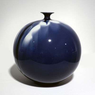 Tokuda Yasokichi IV, 'Jar - Blue Diamond Flower 02', 2010