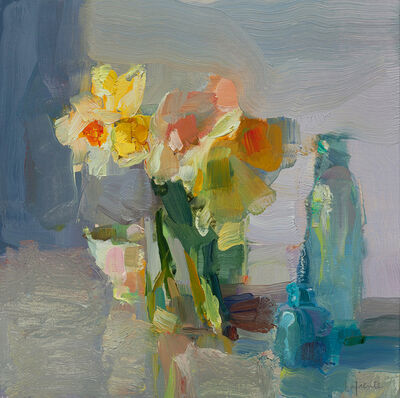 Christine Lafuente, 'Daffodils and Blue Bottles', 2018