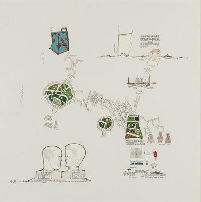 Gianfranco Baruchello, 'A tȇte-jardin = femme-cloche', 1989