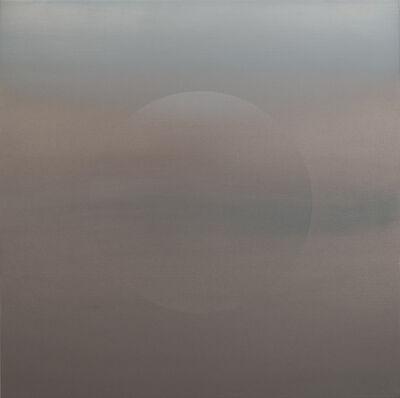 Miya Ando, 'Oborozuki (A Moon Obscured by Clouds) Faint Blue 3.20.3.3.2.M.1.2.3.G.1', 2020