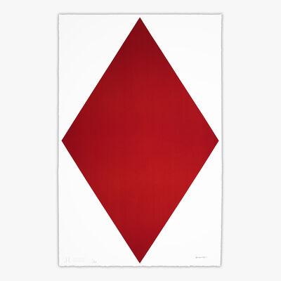 Olivier Mosset, 'DIAMOND RED #2781038', 2020