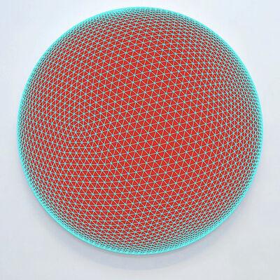John Zoller, 'John Zoller, Aqua Orb Red Core', 2020