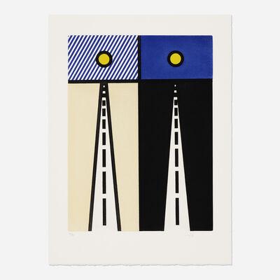 """Roy Lichtenstein, 'Illustration for """"Auto Poesie: en Cavale de Bloomington"""" (from La Nouvelle Chute de l'Amerique (The New Fall of America))', 1992"""