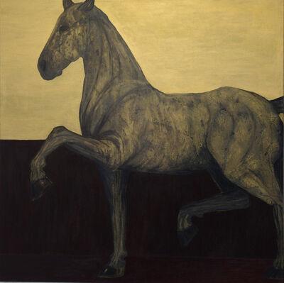 Kandis Cook, 'Golden horse on plinth', ca. 2018