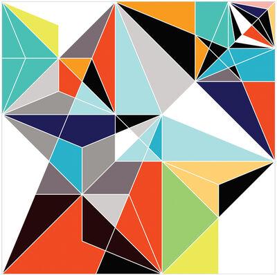 Sarah Morris, 'Black Beetle (Origami)', 2008