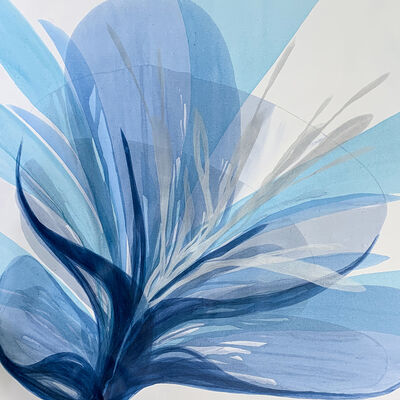 "Antonio S. Molinari, '""Bloom In Blue""', 2019"