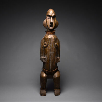 Central Africa, Democratic Republic of the Congo, possibly Yombe, late 19th - early 20th century, 'Mbete Reliquary Standing Female Figure', 20th Century AD