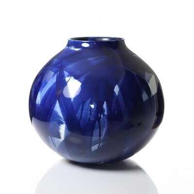 Felicity Aylieff, 'Round Blue & White Vase', 2019