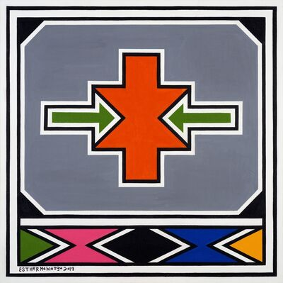 Esther Mahlangu, 'Ndebele Abstract - C000988', 2019