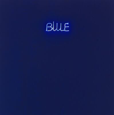 Maurizio Nannucci, 'Blue', 1970