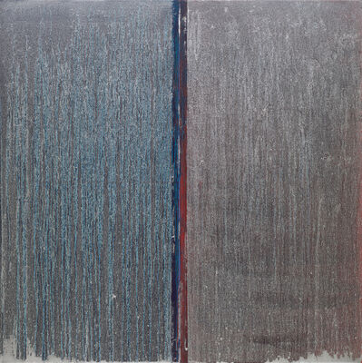 Pat Steir, 'Blue and Red with Silver Over', 2019