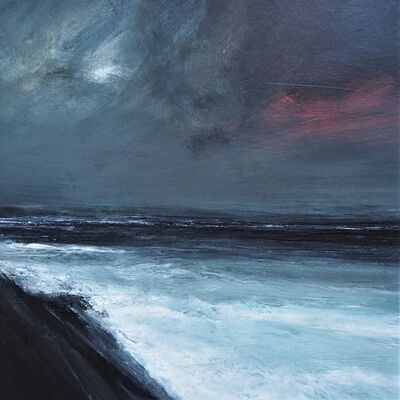 Ruth Brownlee, 'Dusk Storm, Sumburgh Head', 2019