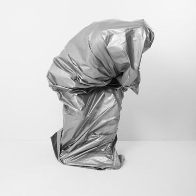 Chris Shepherd, 'Silver Tarp Self Portrait - Version 1', 2018
