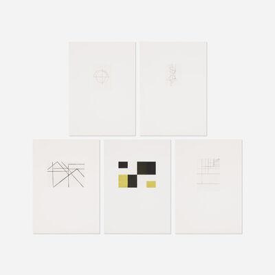 Helmut Federle, '5 + 1 portfolio', 1989